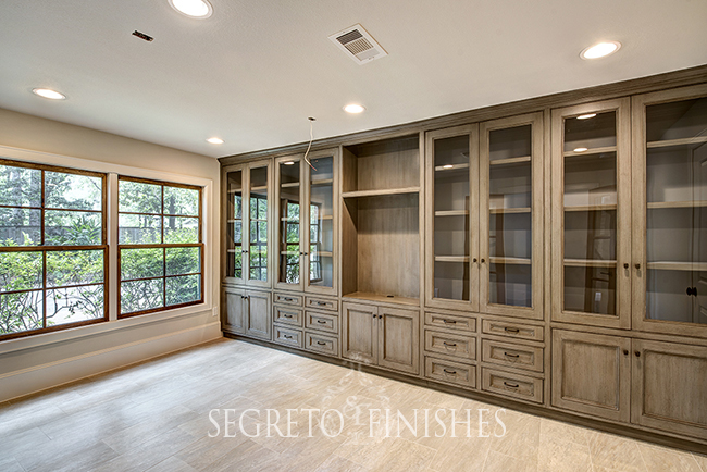 Segreto Secrets - Furniture Finish on Office Cabinetry