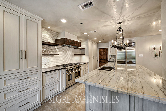 Segreto Secrets - Beautiful Transitional Kitchen with Textural Interest