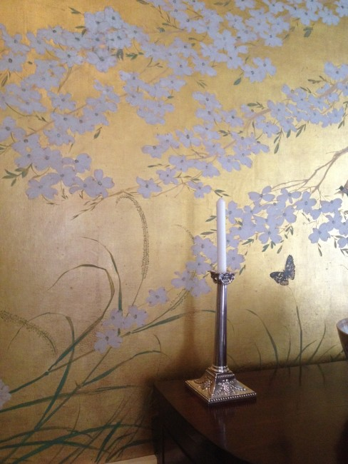 Segreto Secrets - Bayou Bend - Dining Room Wallpaper Close Up