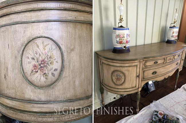 Segreto Secrets - Floral Design on Furniture Piece