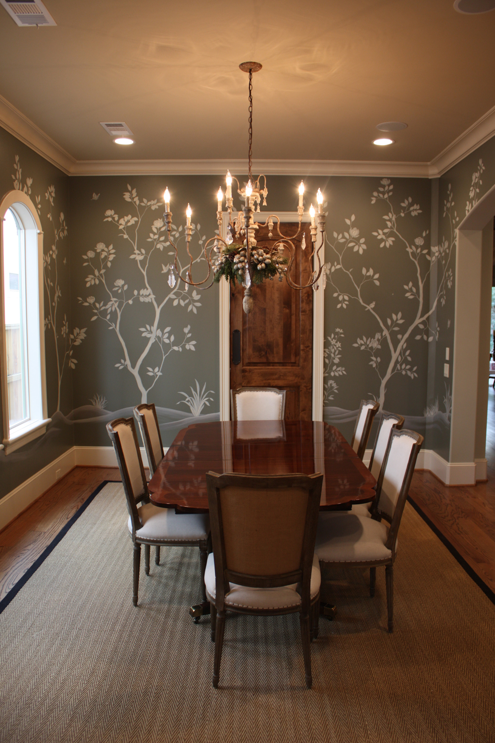 Gray Painted Dining Room