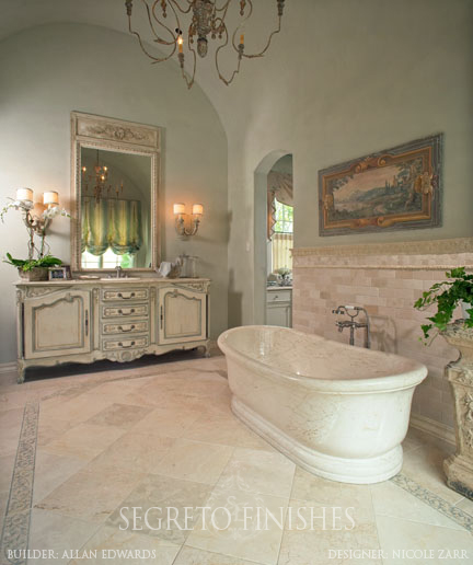 Segreto Secrets - I Love That Sample, Where Can It Go In My House - Bathroom with Aqua Plaster