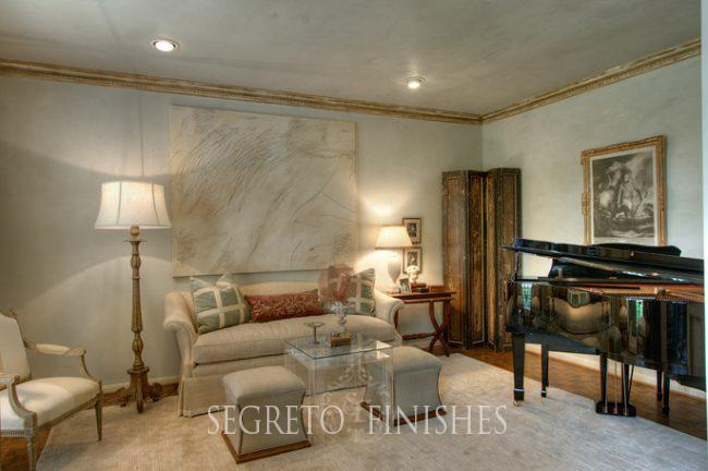 Segreto Secrets - I Love That Sample, Where Can It Go In My House - Aqua Gypsum Plaster Sitting Room