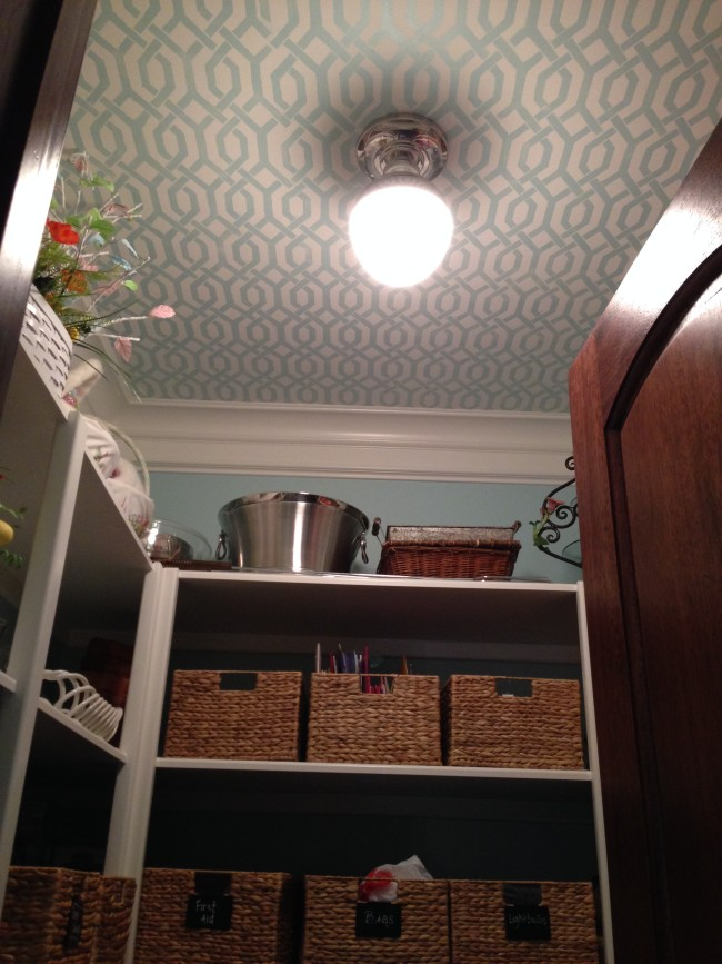 Stenciled ceiling by Segreto Finishes