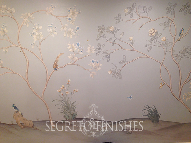Hand-painted mural by Segreto Finishes