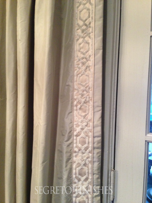 new Cowtan and Tout trim on drapes