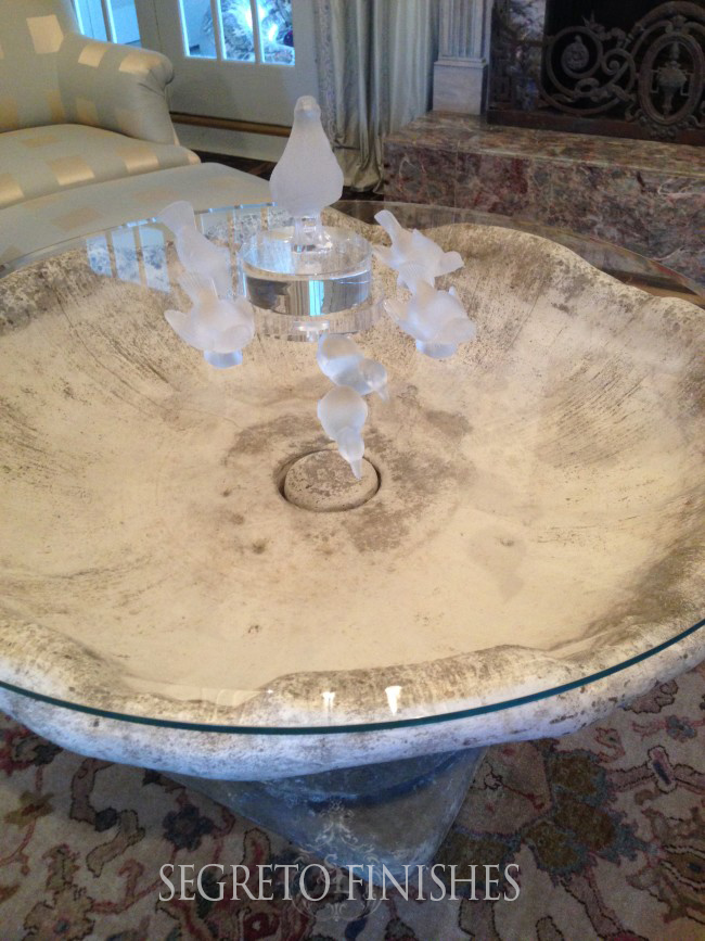 bird bath coffee table