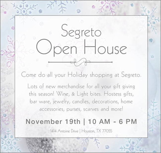 Holiday Open House at Segreto Boutique