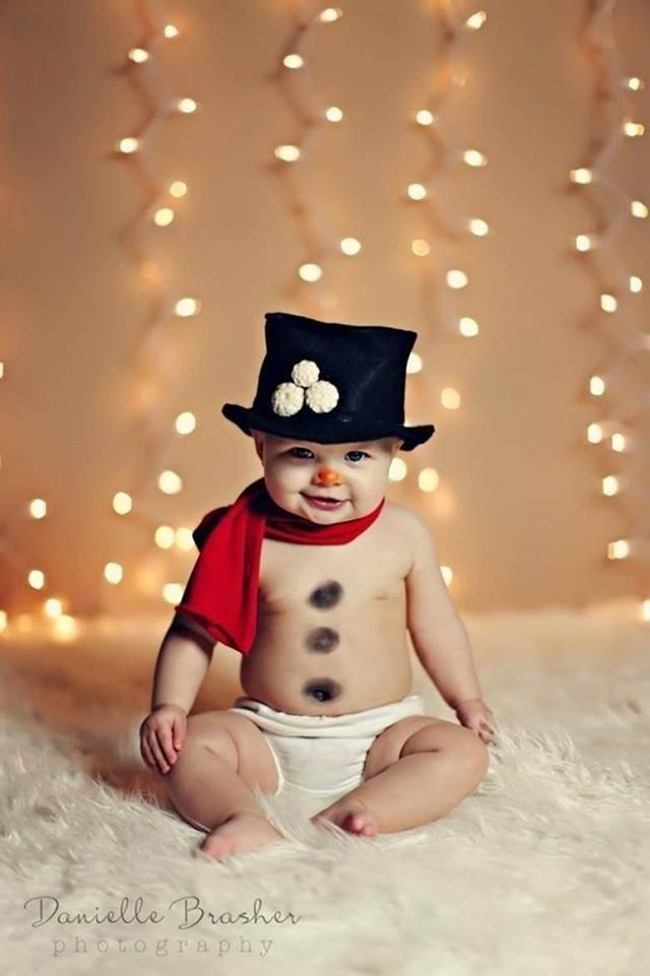 Christmas snowman baby
