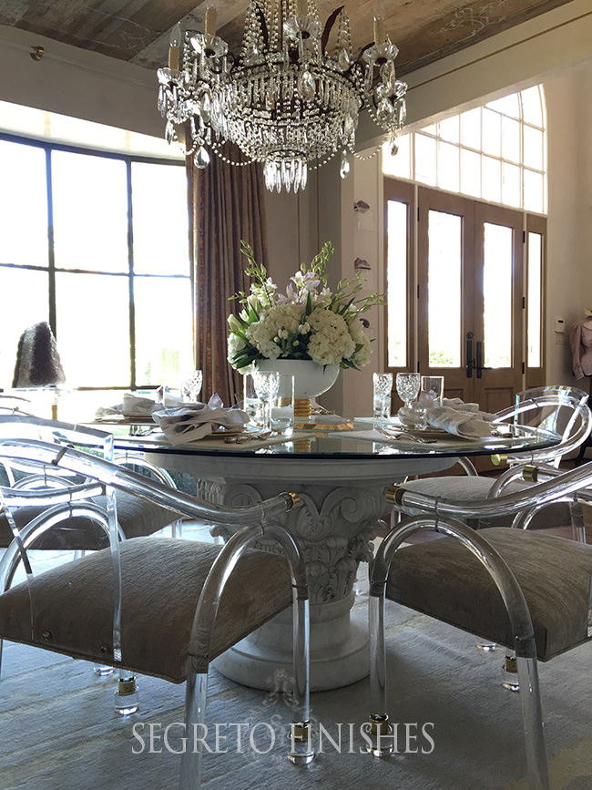 Acrylic Furnishings in My Dining Room Finale - Leslie Sinclair of Segreto Secrets