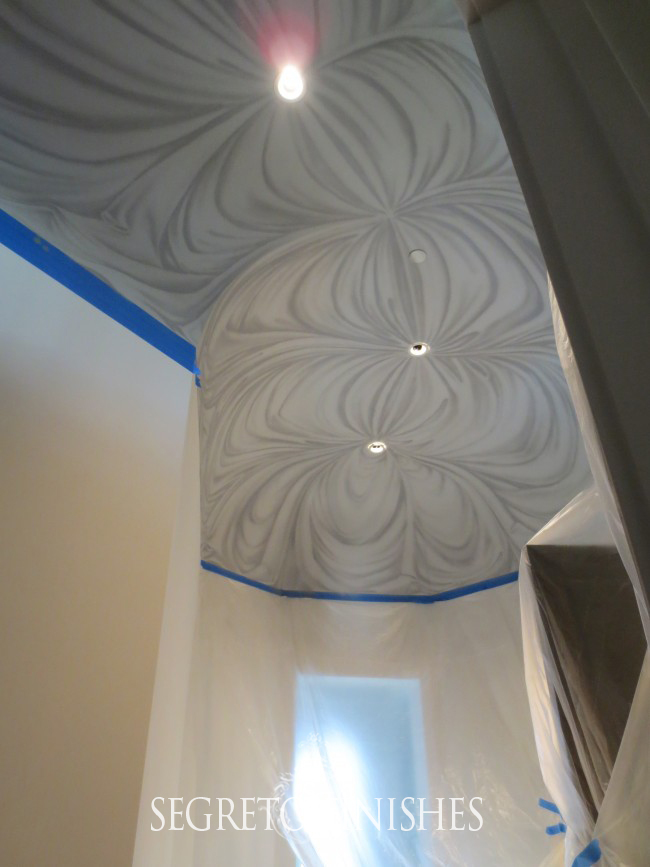 Draped Fabric Ceiling Treatment by Segreto