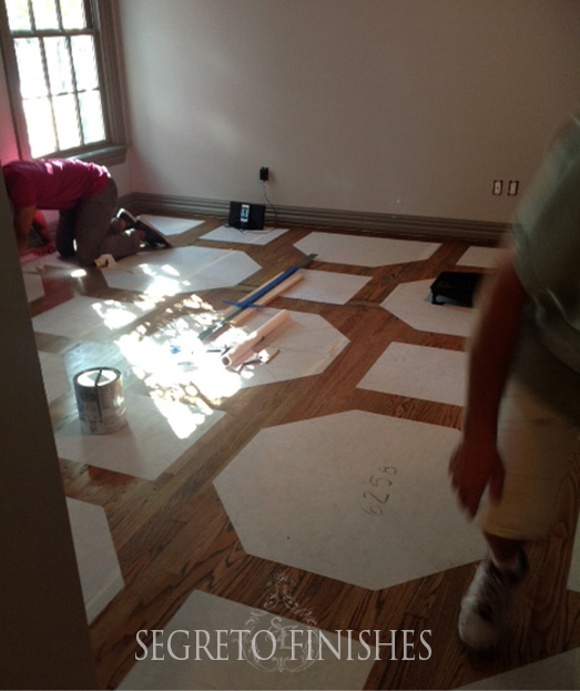 Painted Wood Floor Design by Segreto