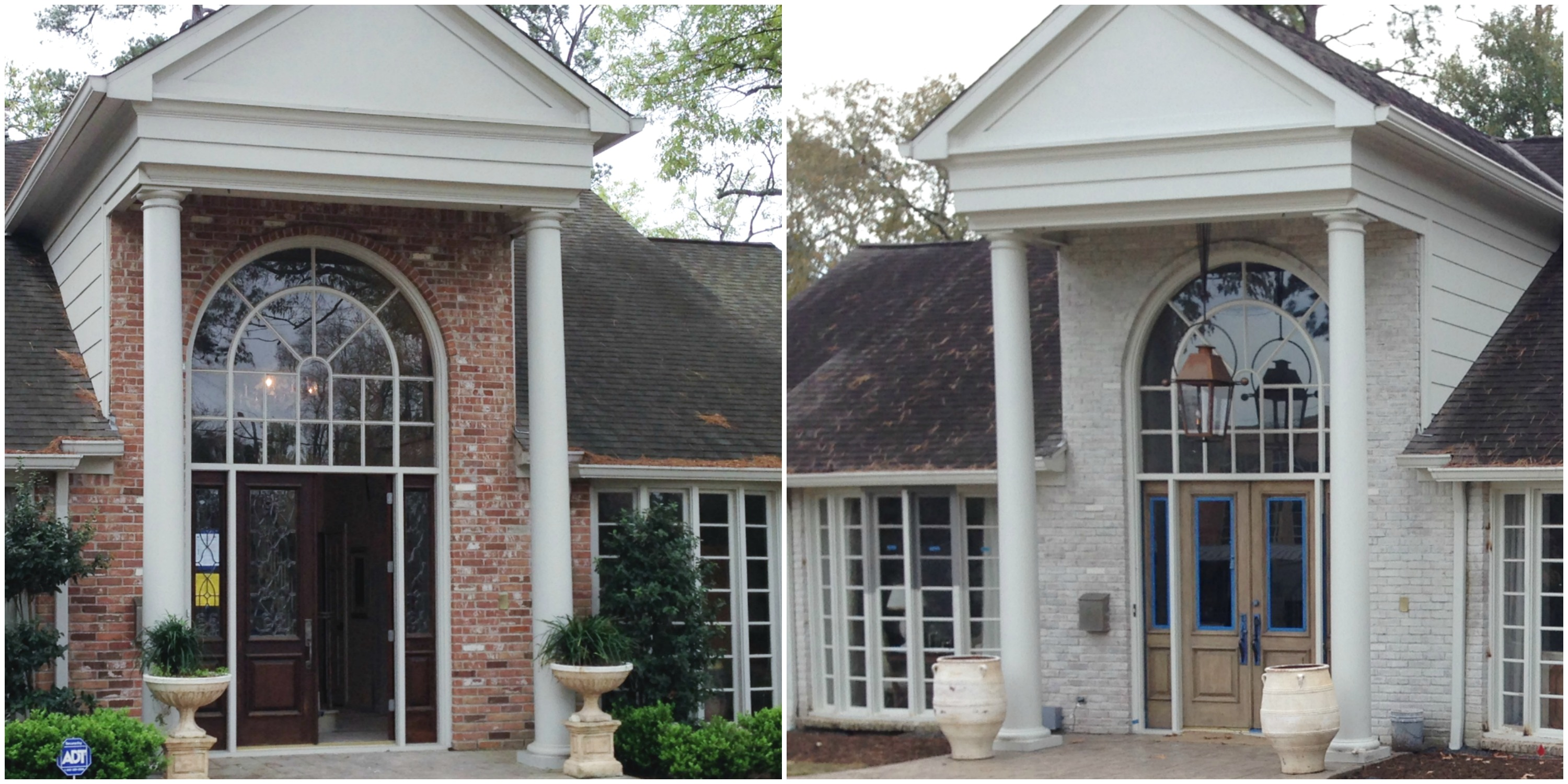 Limewash Before and After