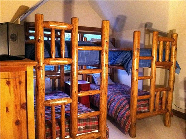 Our new vacation home in the mountains - bunk room before
