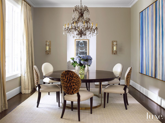 A Transitional Home - Dining Room