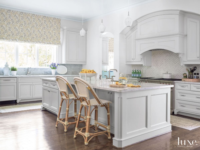 A Transitional Home - Kitchen