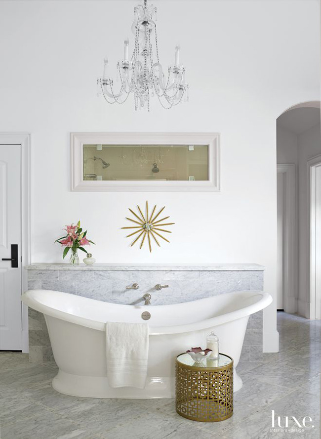 A Transitional Home - Master Bathroom