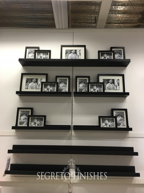 Segreto Secrets - Father's Day Office Makeover - Ikea Ribba Picture Frames on Ledge