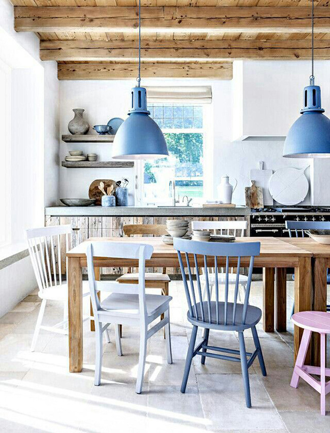 Kitchen with Serenity lighting Pantone - Segreto Secrets