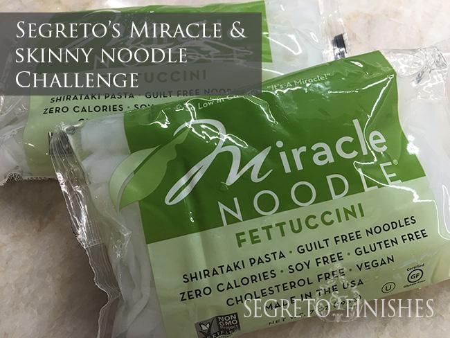 Segreto Secrets - Miracle and Skinny Noodle Challenge