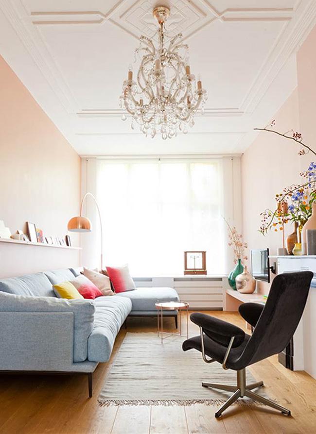 Segreto Secrets - Living Room with Pantone Rose Quartz and Serenity