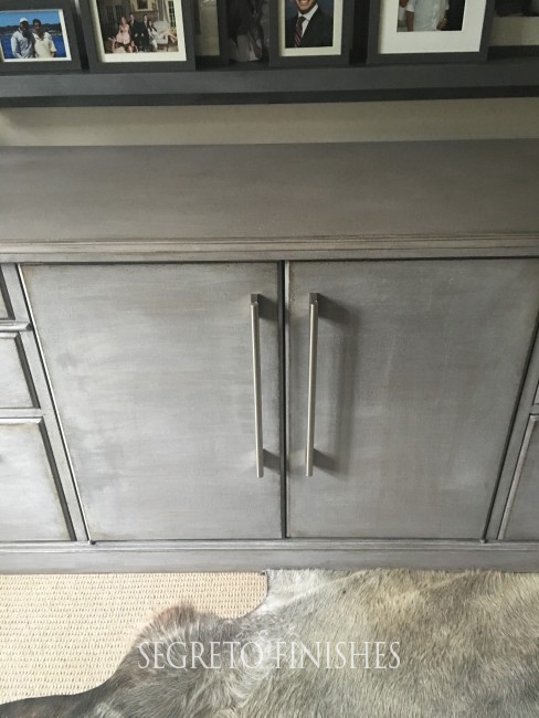 Segreto Secrets - Father's Day Office Makeover - Gray Cabinet with Contemporary Hardware