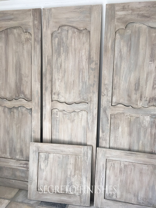 What's Segreto's Been Up To - Aged White Gray Doors