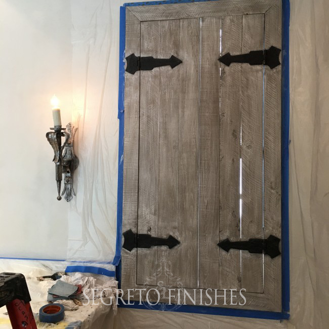 What's Segreto's Been Up To - Aged Door Finish with Hardware