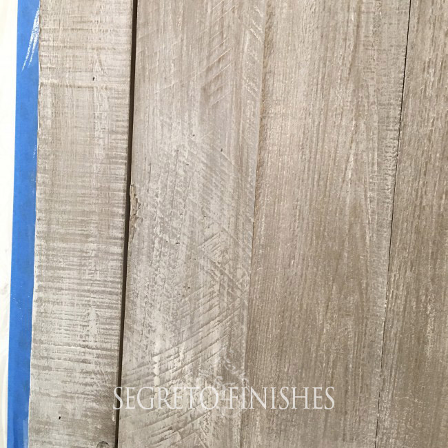 What's Segreto's Been Up To - Close Up of Aged Door Finish by Segreto Finishes