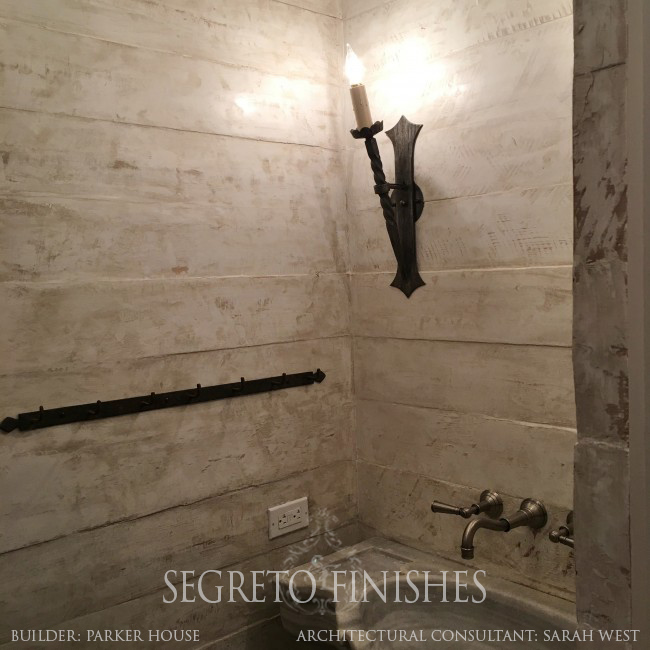 What's Segreto's Been Up To - Wood Plank Bathroom with Plaster Finish