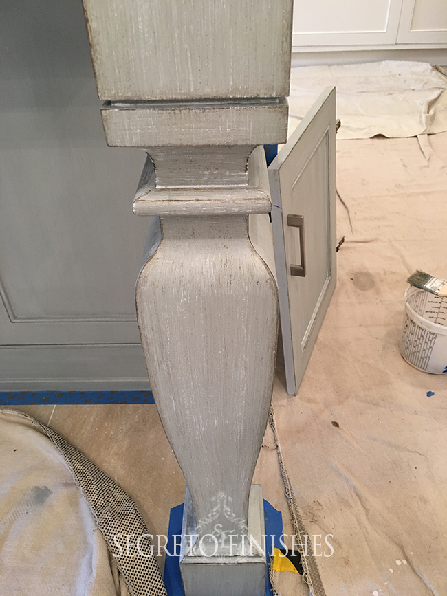 What Segreto Did Last Week! Segreto Secrets Blog! Detail of Island Leg Finish in French Blue