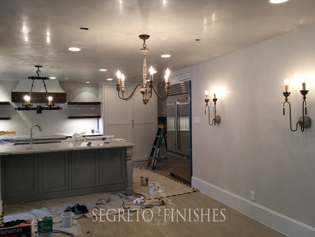 What Segreto Did Last Week! Segreto Secrets Blog! Plaster and Cabinet Finishes for New Kitchen