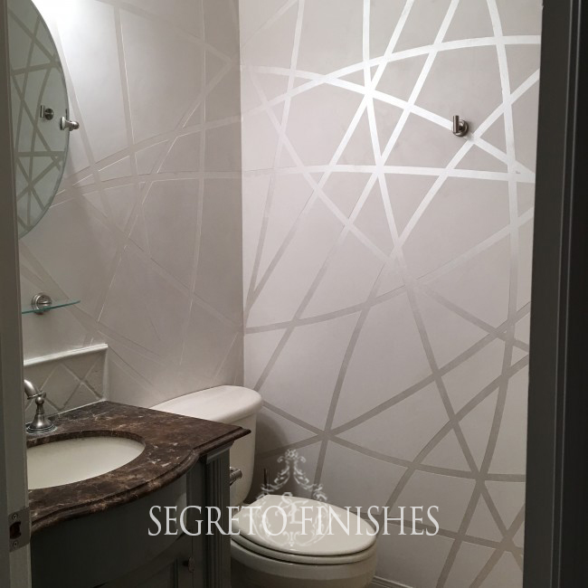 What Segreto Did Last Week! Segreto Secrets Blog! Contemporary Metallic Finish in Bathroom