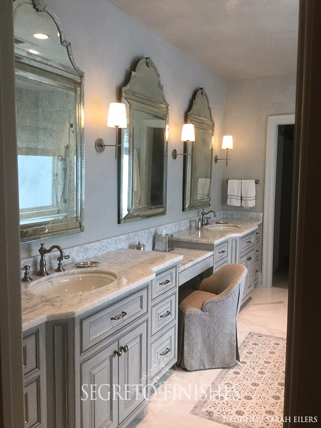 What's Segreto's Been Up To - Plastered Bathroom for Sarah Eilers