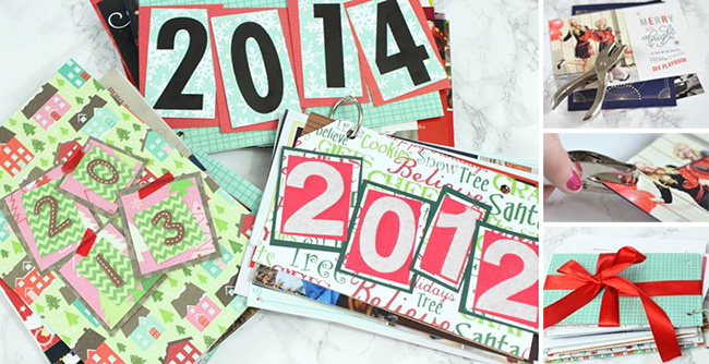 Segreto Secrets - Christmas Ideas - Grouping Holiday Cards by Year