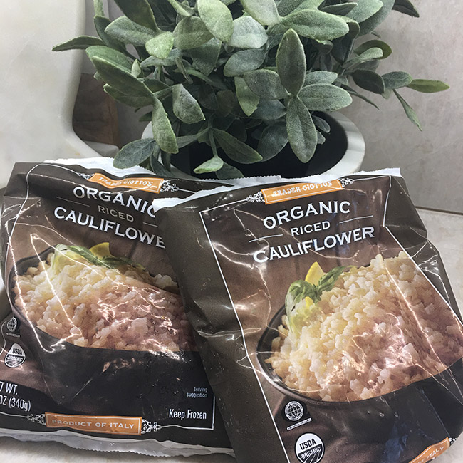 Segreto Secrets - My Favorite Things from Trader Joes - Frozen Cauliflower Rice for Healthy Fried Rice