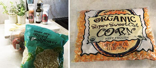 Segreto Secrets - Favorite Things at Trader Joe's - Cauliflower Rice and Organic Corn