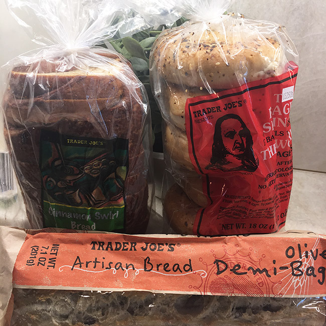 Segreto Secrets - My Favorite Things from Trader Joes - Artisan Bread, Bagels, and Cinnamon Swirl Bread