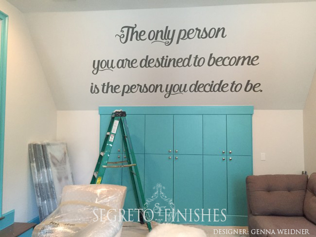 What Segreto Did Last Week! Segreto Secrets Blog! Painted Quote - The only person you are destined to become is the person you decide to be.