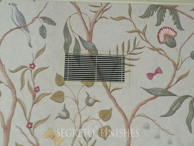 What's Segreto's Been Up To - Painting Vents to Match Wallpaper