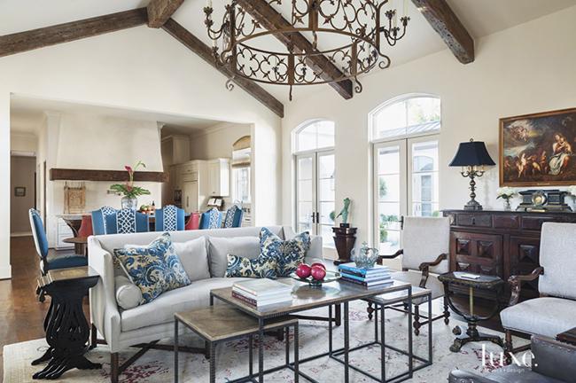 Segreto Secrets - Mediterranean Traditional Home Tour - Family Room