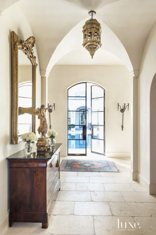 Segreto Secrets - Mediterranean Traditional Home Tour - Hallway with Groin Vaults and Plaster