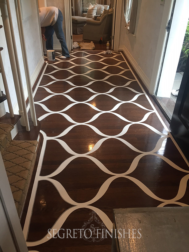 What Segreto Did Last Week! Segreto Secrets Blog! Painted Wood Floor Design