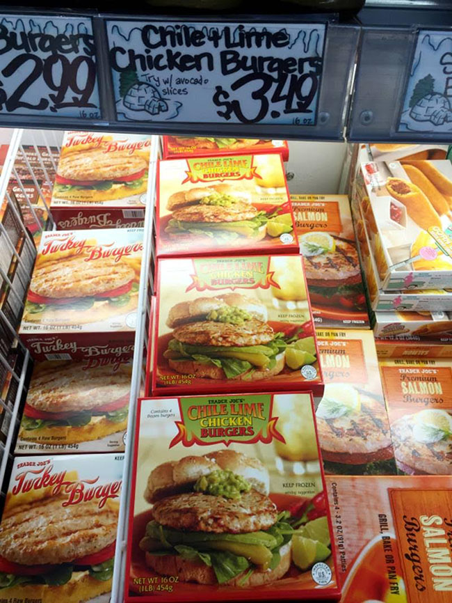 Segreto Secrets - My Favorite Things from Trader Joes - Chili Lime Chicken Burgers