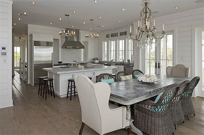 Segreto Secrets - Galveston Beach House - Kitchen and Dining Area