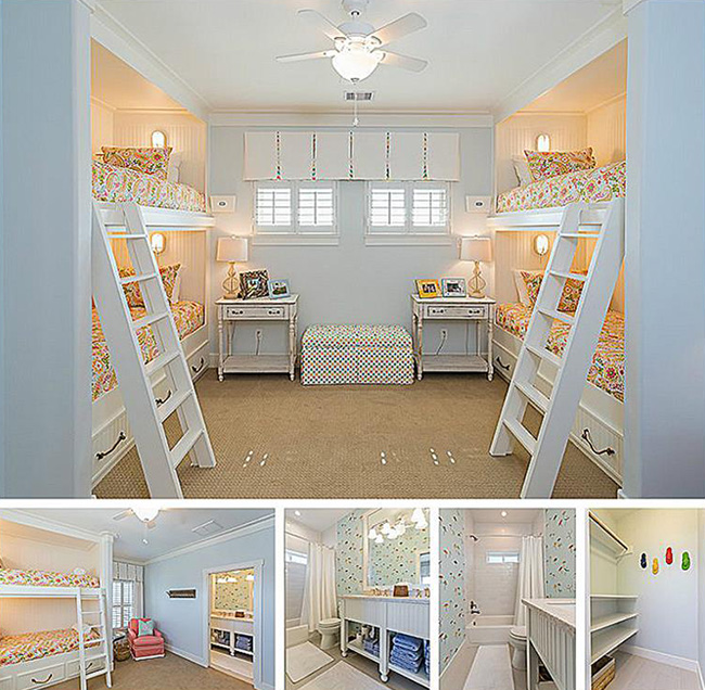 Segreto Secrets - Galveston Beach House - Bunk Beds for Kids Room at Beach