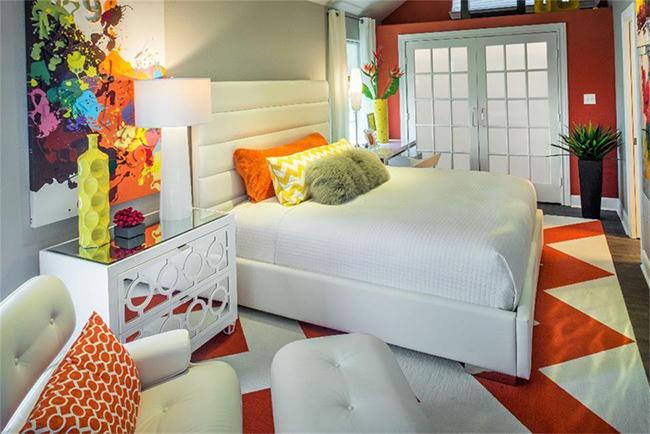 Segreto Secrets - Galveston Beach House - Orange Bedroom