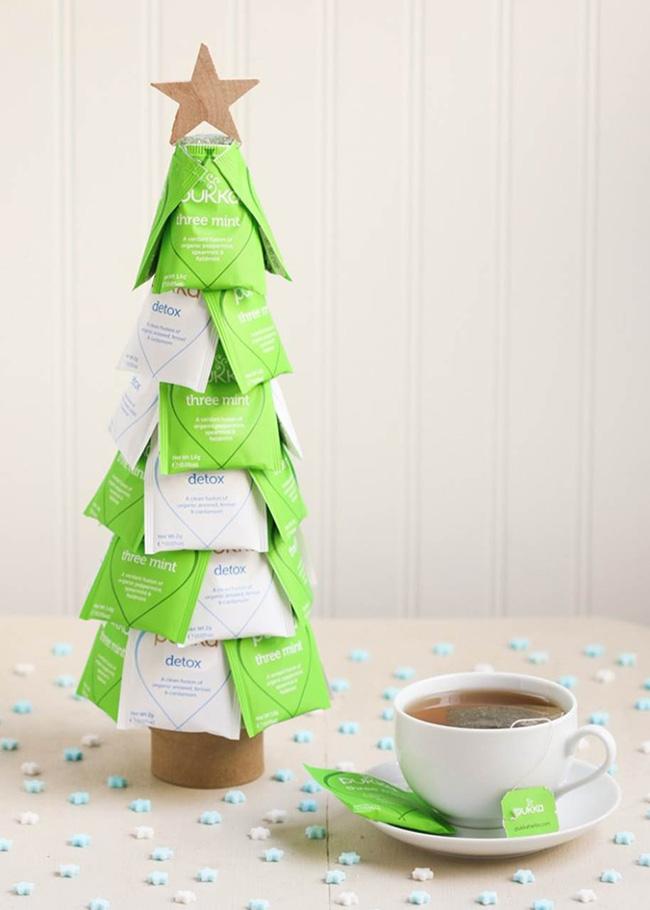 Segreto Secrets - Christmas Tree Crafts - Tea Themed Tree
