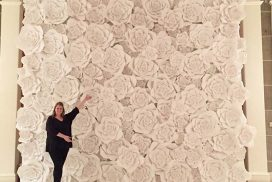 A Beautiful Flower Wall!