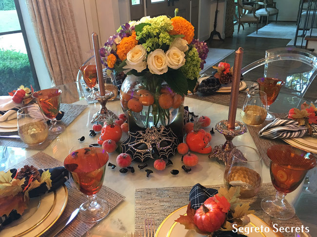 Halloween Fall Centerpiece Pumpkins Floral Arrangements Segreto